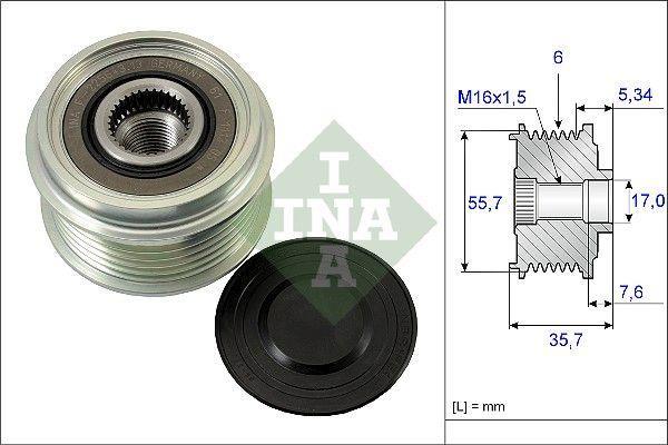 INA - Vrijloop koppeling dynamo - 535 0077 10