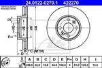 ATE - Remschijf geventileerd vooras HIGH CARBON - 24.0122-0270.1