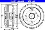 ATE - Remtrommel - 24.0218-0046.1
